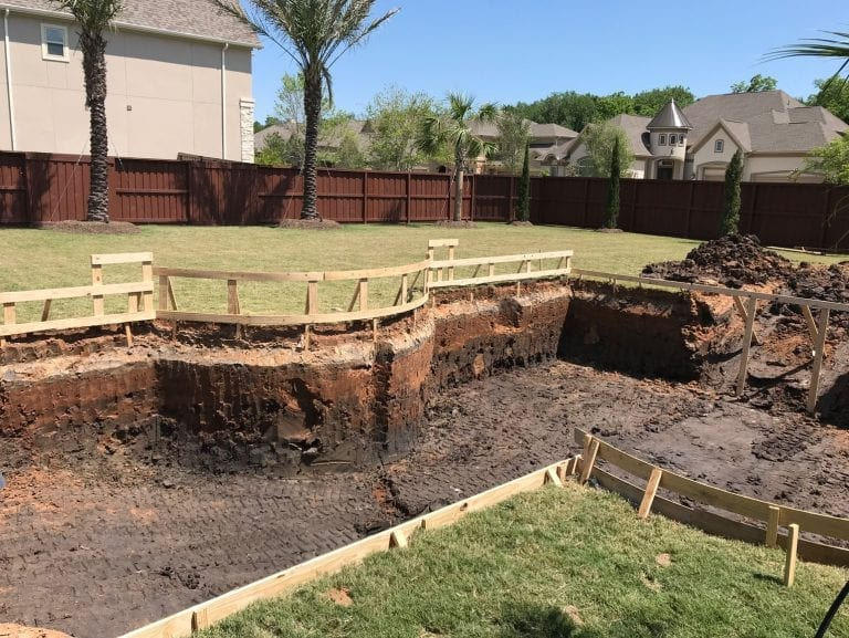 constructing pool