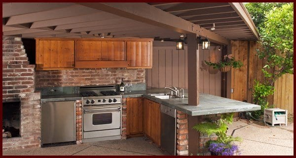 services, outdoor kitchens