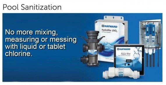 Pool Equipment, sanitization