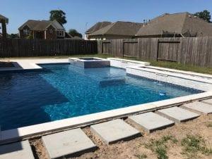 geometric pool under construction